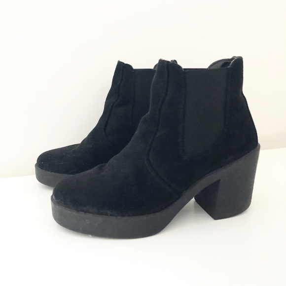 e038575876a Topshop black suede Chelsea boots with platform